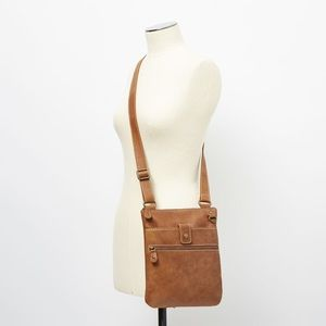 Roots Venetian Tribe Crossbody Brown Leather Bag